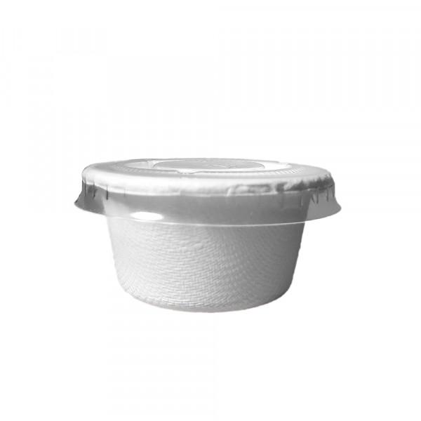 Pote 60 ml c/ tampa - bagaço de cana pct 200 und (pct)