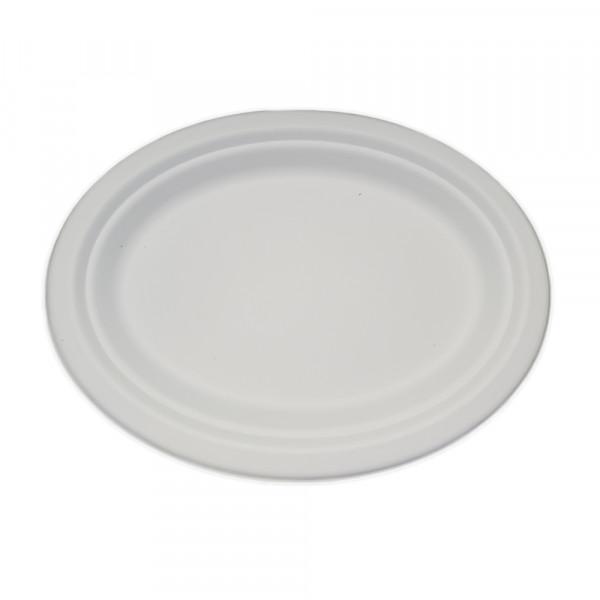 Prato Oval 25x20cm - Bagaço de Cana pct. 200 un