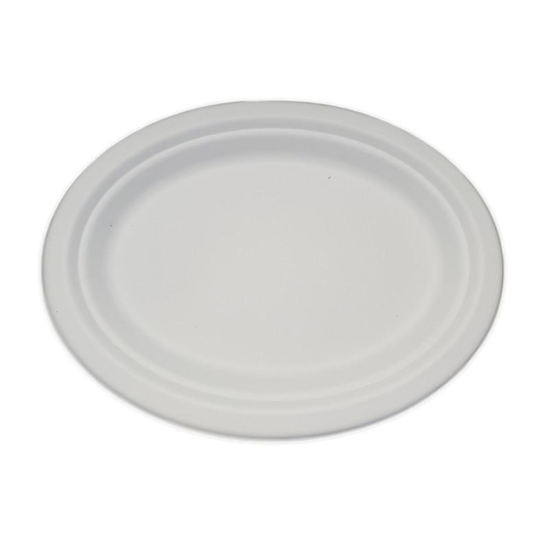 Prato Oval 25x20cm - Bagaço de Cana cx.500 un