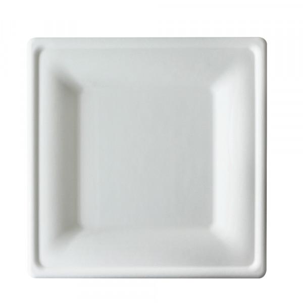 Prato Quadrado 15cm Bagaço de Cana pct. 200 un