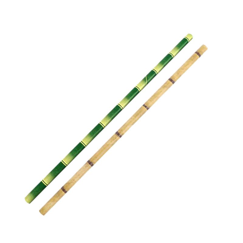 Canudo de Papel 3 camadas Bambu sortido 6x235mm - pacote com 500 un.